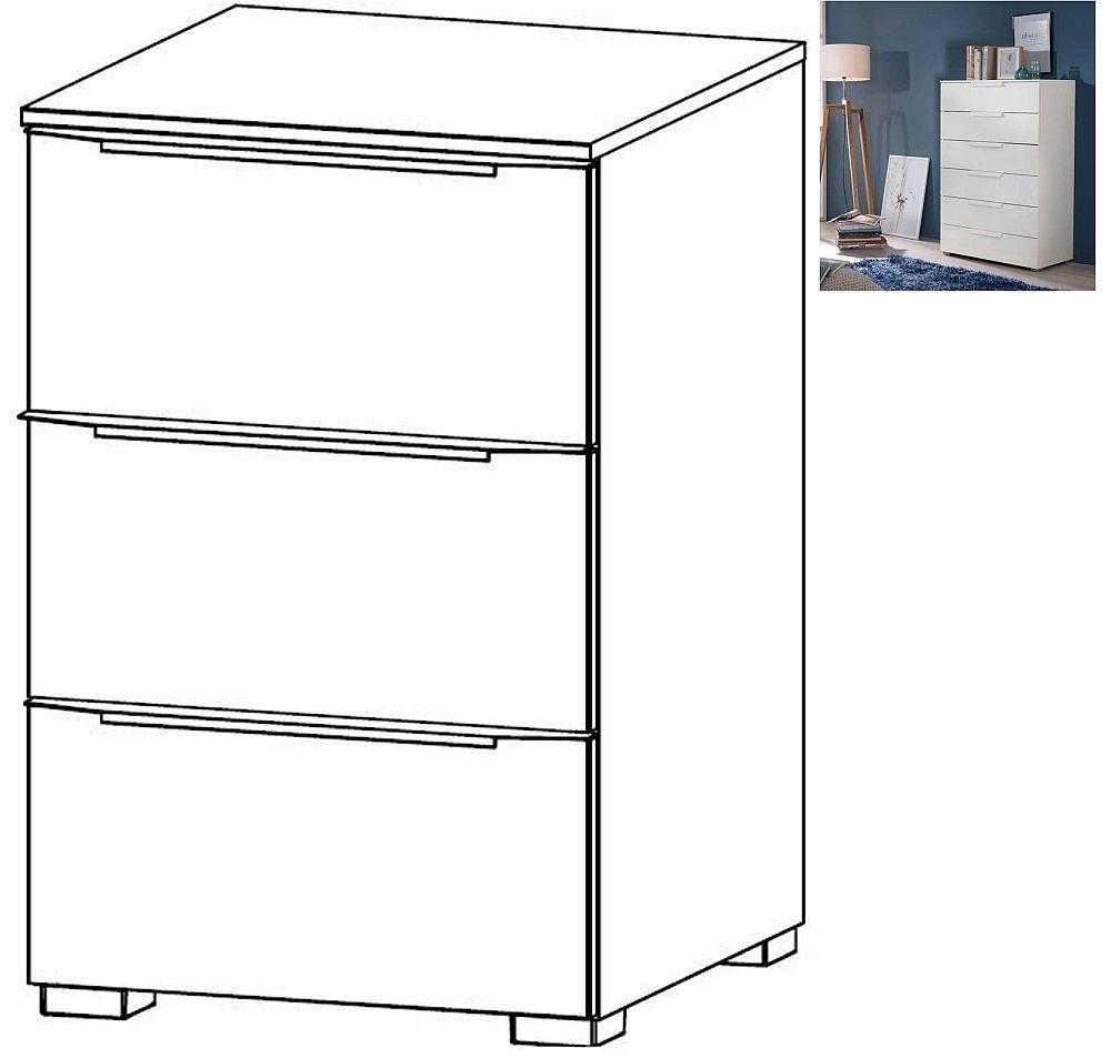 Rauch Aldono Deluxe 3 Drawer Bedside Cabinet in Alpine White - W 40cm