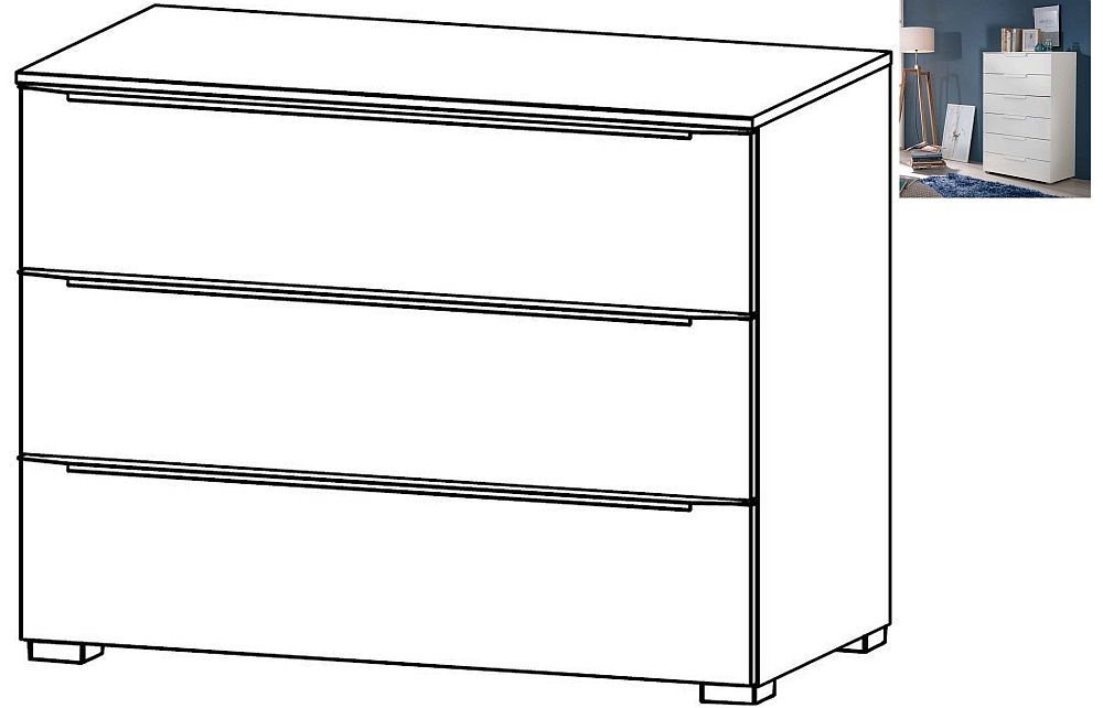 Rauch Aldono Deluxe 3 Drawer Chest in Alpine White