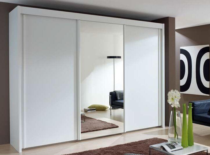 Rauch Amalfi 3 Door 1 Mirror Silding Wardrobe in Alpine White - W 225cm H 197cm