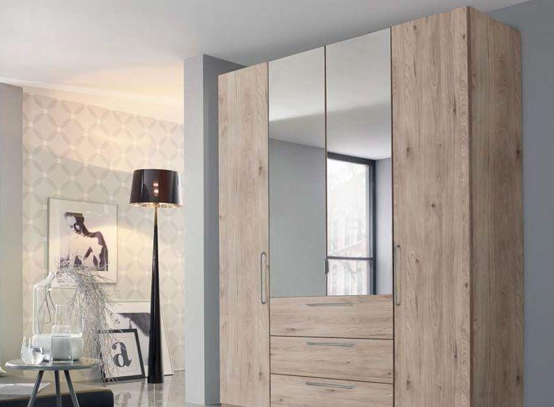 Rauch Balis 4 Door Combi Folding Wardrobe in Oak - W 201cm