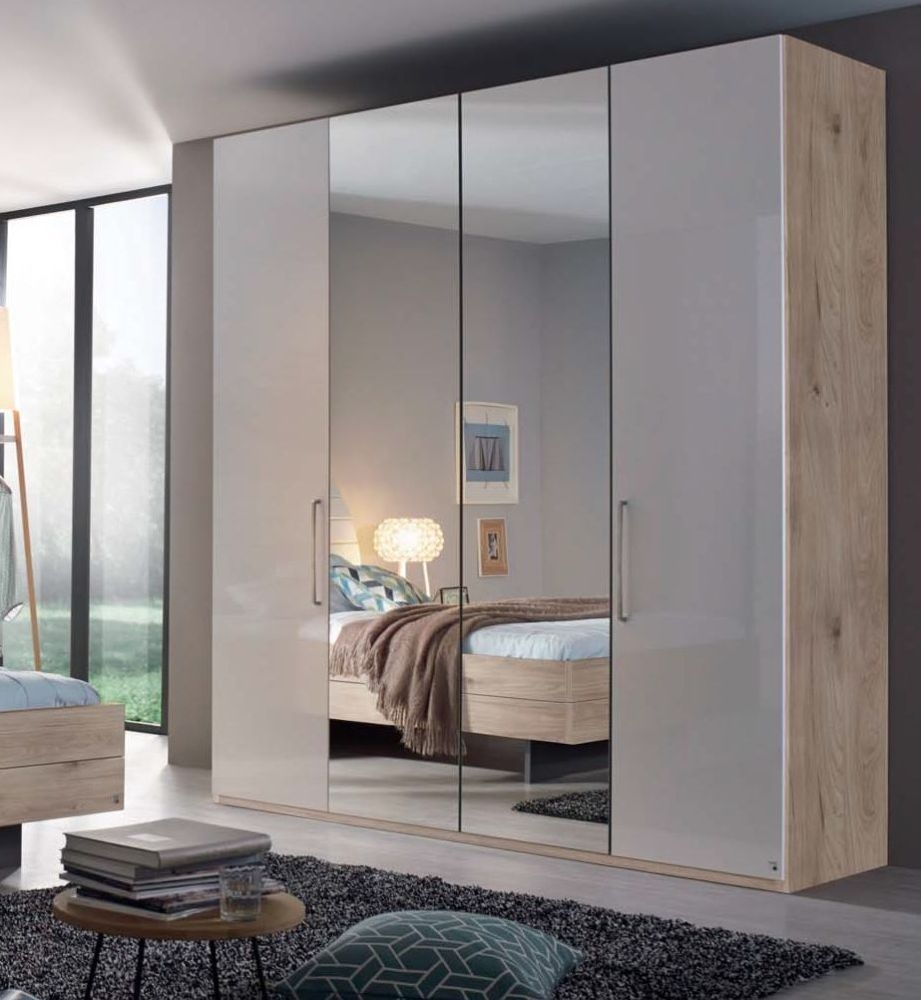 Rauch Balis Folding Wardrobe with Silver Color Handle
