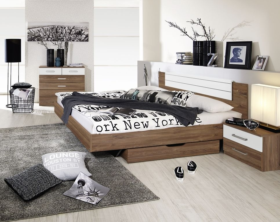 Rauch Barcelona Stirling Oak with Alpine White Bed Combination - 180cm x 200cm