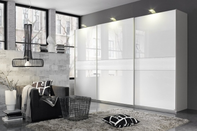 Rauch Bayamo Sliding Wardrobe with Glass or Grey Mirror Front
