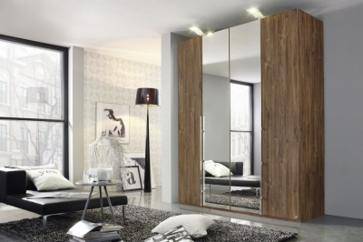 Rauch Bayamo Wardrobe with Color and Mirror Front