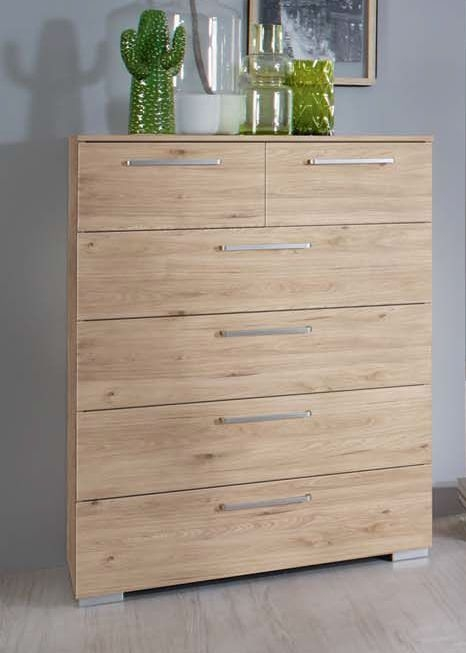 Rauch Belao 2+4 Drawer Chest in Jackson Hickory