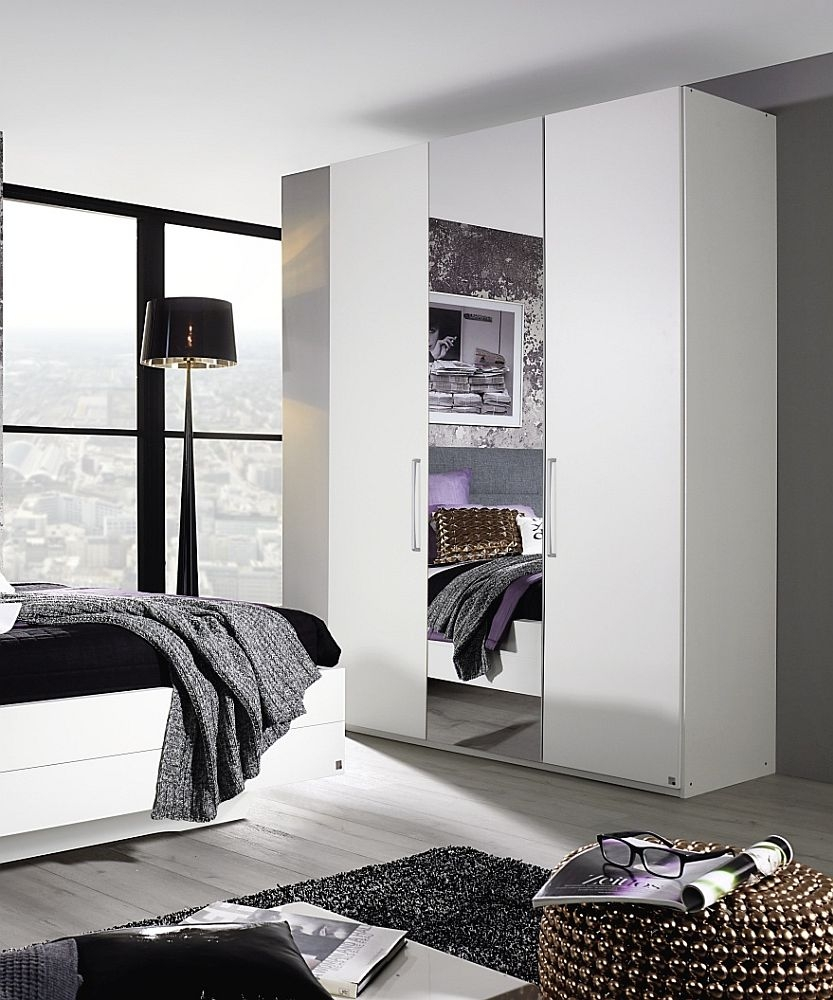 Rauch Belao 3 Door Wardrobe in White - W 151cm