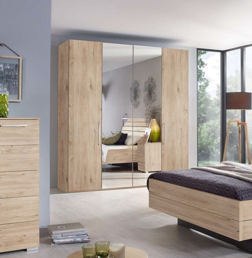 Rauch Belao 4 Door Wardrobe in Oak - W 201cm