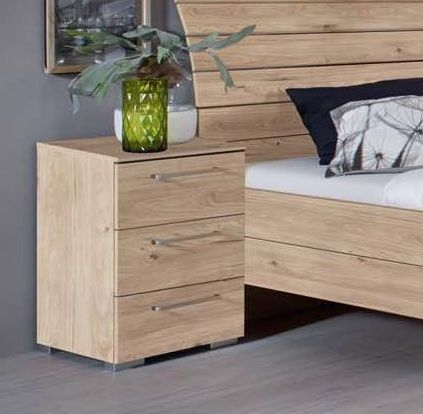 Rauch Belao 3 Drawer Bedside Cabinet in Jackson Hickory