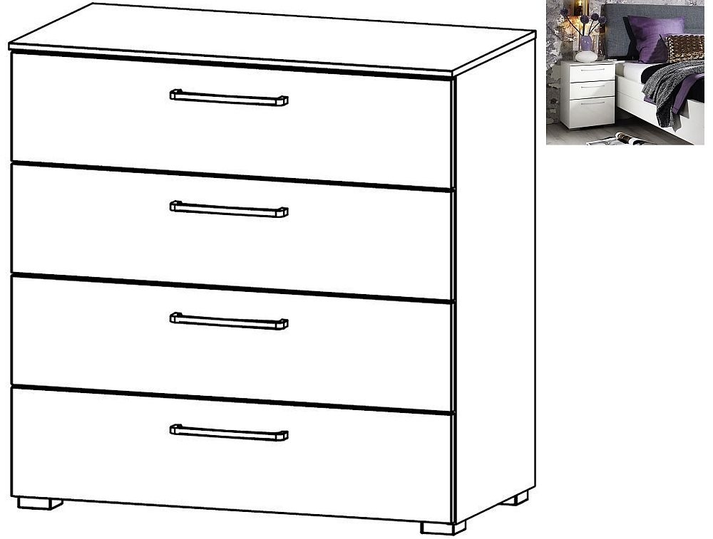 Rauch Belao 4 Drawer Chest in Jackson Hickory - W 80cm