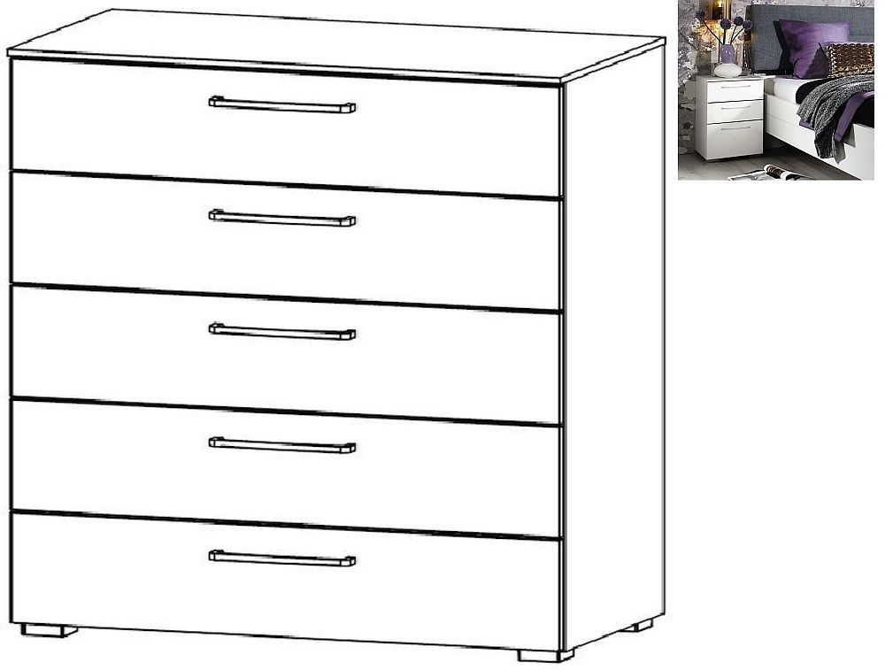 Rauch Belao 5 Drawer Chest in Jackson Hickory - W 80cm