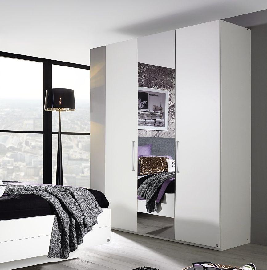 Rauch Belao Alpine White 4 Door 3 Drawer Combi Wardrobe with 2 Mirror - W 201cm