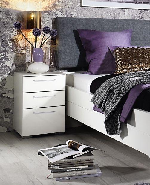 Rauch Belao Alpine White Bedside Cabinet - 3 Drawer