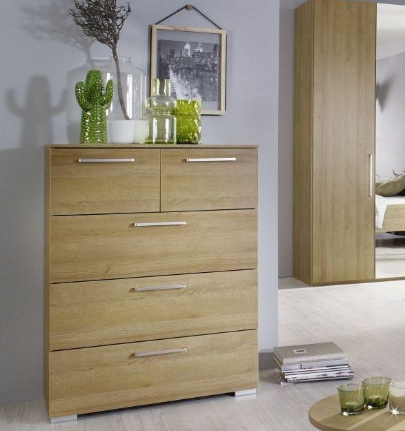 Rauch Belao Riviera Oak Chest of Drawer - 3+2 Drawer