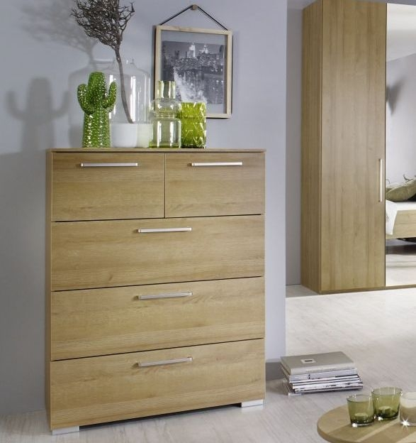 Rauch Belao 4 Drawer Chest in Oak - W 80cm