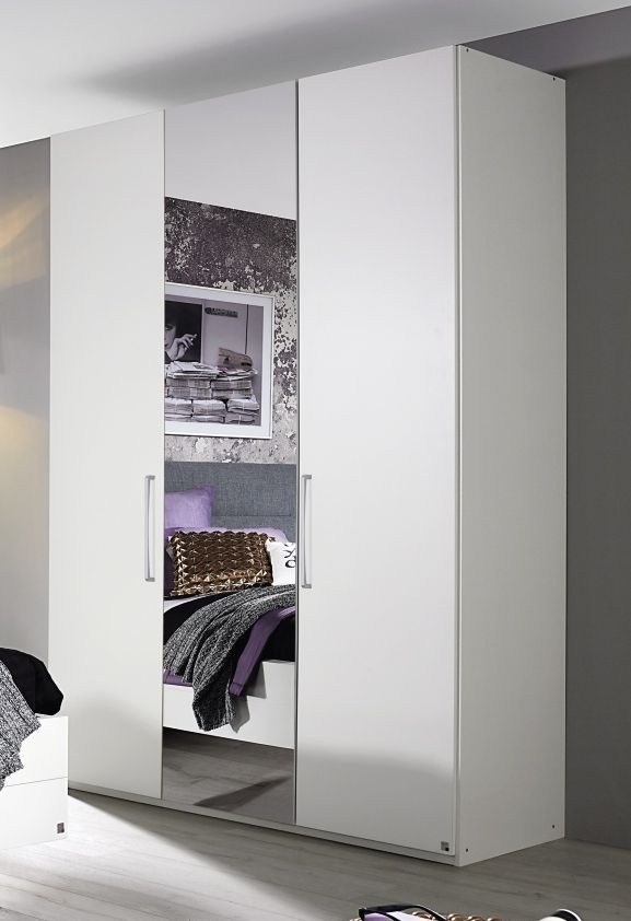 Rauch Belao Wardrobe with Silver Color Handle