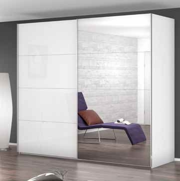 Rauch Beluga-Extra Sliding Wardrobe with Glass Front