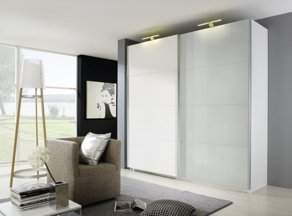 Rauch Beluga Plus Sliding Wardrobe with Front Matt Glass Overlay