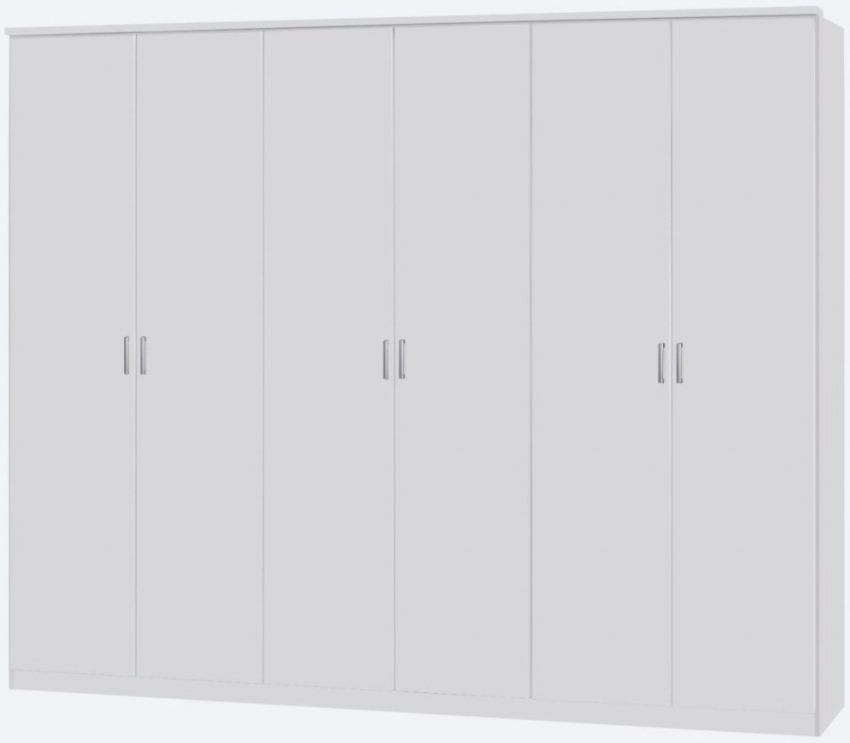 Rauch Beta Alpine White 5 Door Wardrobe with Cornice - W 226cm