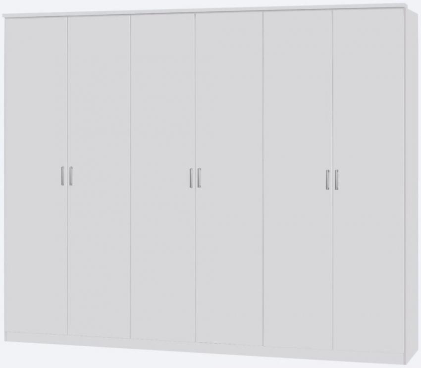 Rauch Beta Alpine White 6 Door Wardrobe with Cornice - W 271cm