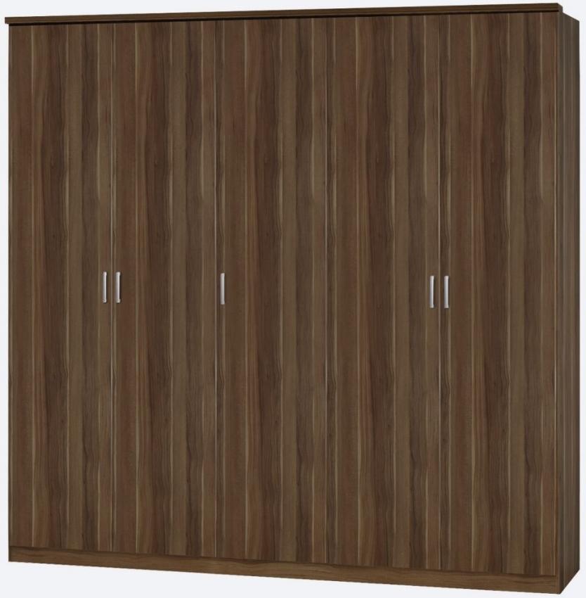 Rauch Beta 3 Door 2 Drawer Combi Wardrobe with Cornice in Stirling Oak - W 136cm