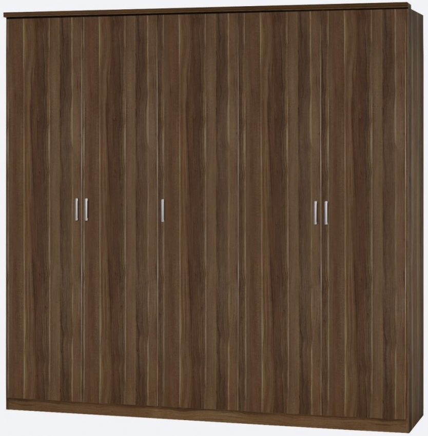 Rauch Beta Stirling Oak 6 Door Wardrobe with Cornice - W 271cm