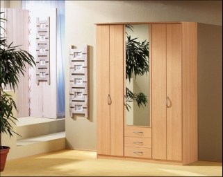 Rauch Blitz Folding Door Combi Wardrobe