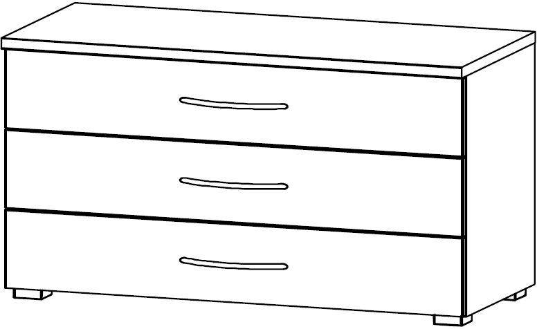 Rauch Blitz 3 Drawer Chest in Wooden Front