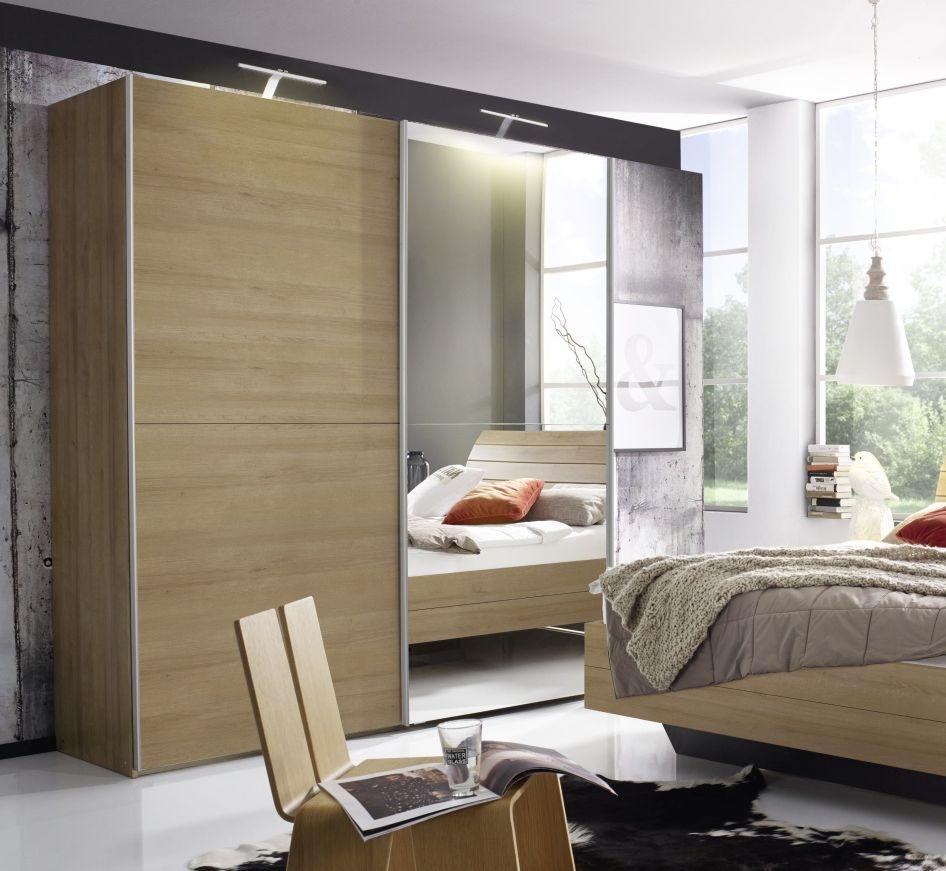 Rauch Braya 2 Door 1 Mirror Sliding Wardrobe in Oak - W 151cm