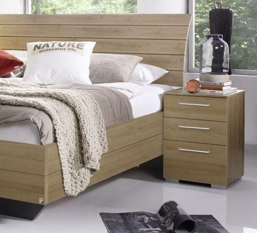 Rauch Braya Riviera Oak Bedside Cabinet - 3 Drawer