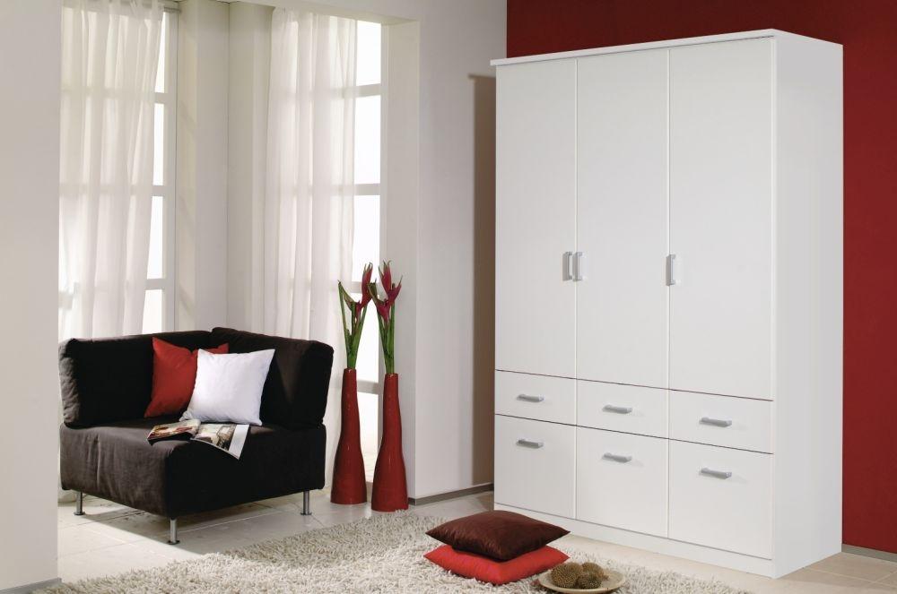 Rauch Bremen Alpine White 4 Door 8 Drawer Wardrobe with Cornice - W 181cm