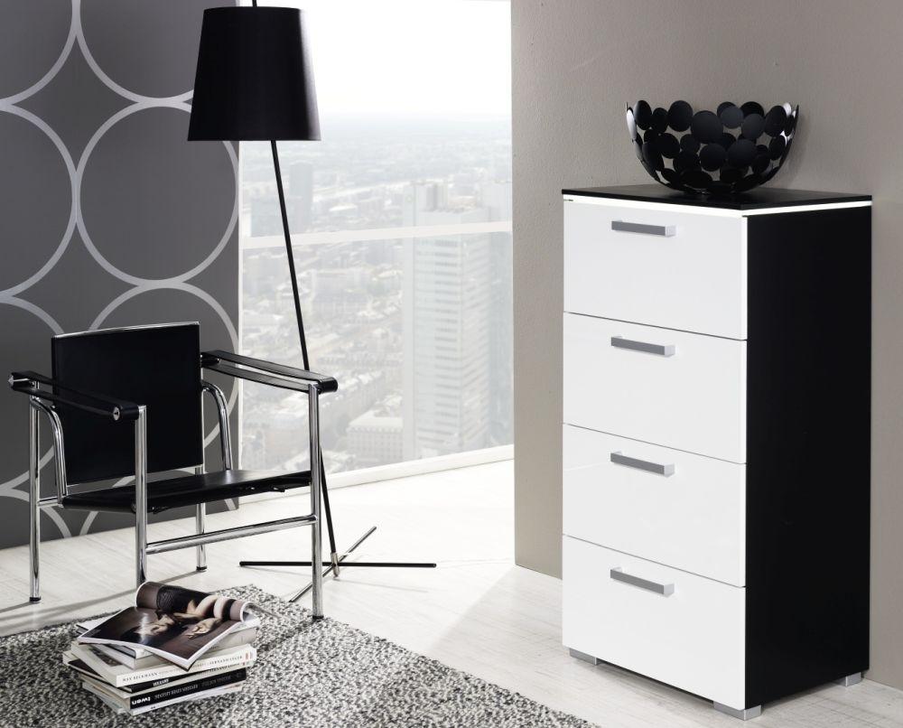Rauch Calero 3+2 Drawer Chest in Black and Alpine White