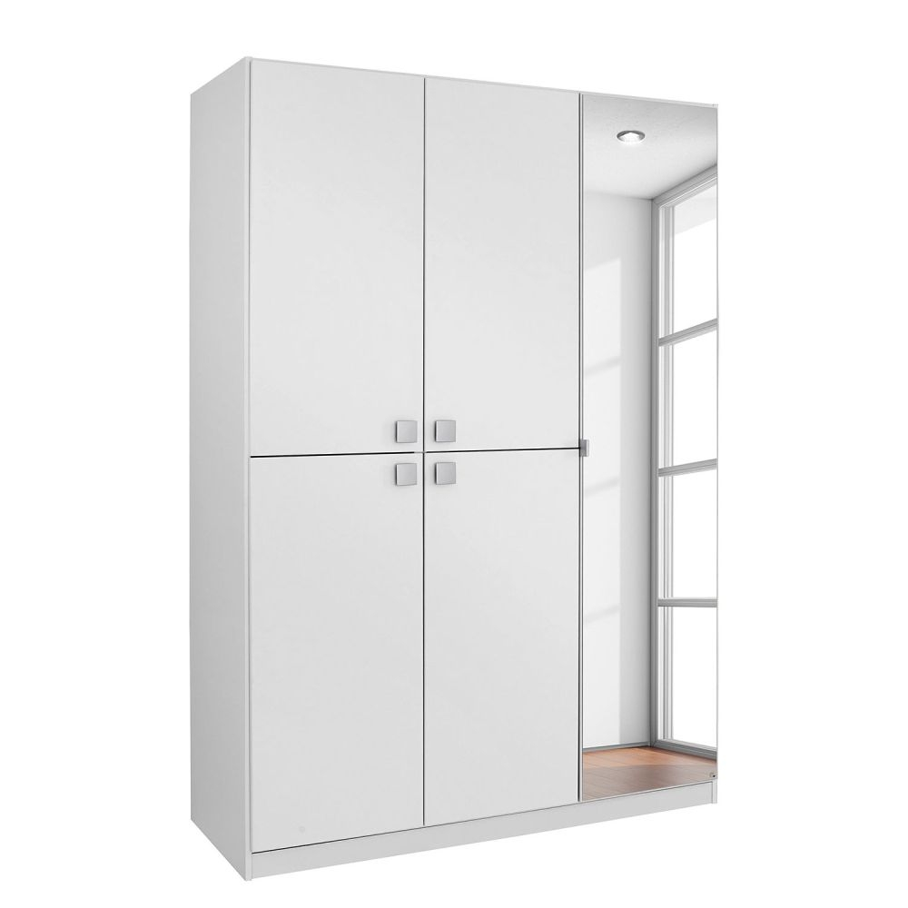 Rauch Caria Apine White 1+4 Door Wardrobe with 1 Mirror - W 136cm