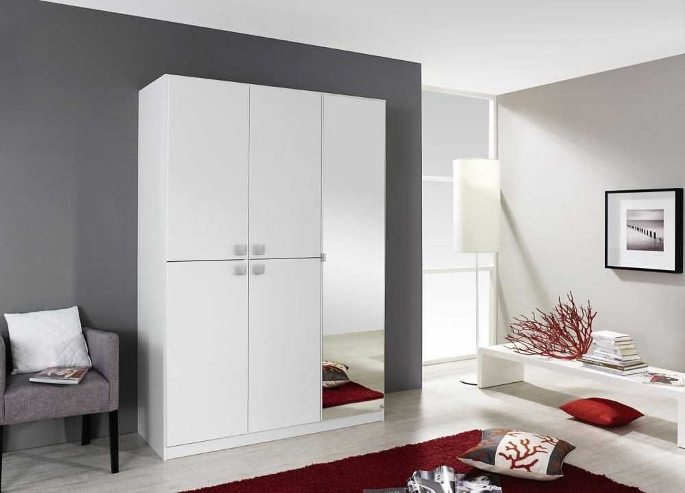 Rauch Caria Apine White 2+4 Door Wardrobe with 2 Mirror - W 181cm