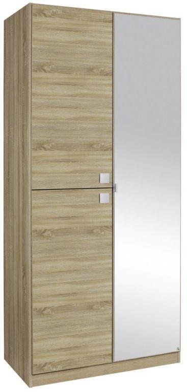 Rauch Caria Sonoma Oak 1+2 Door Wardrobe with 1 Mirror - W 91cm