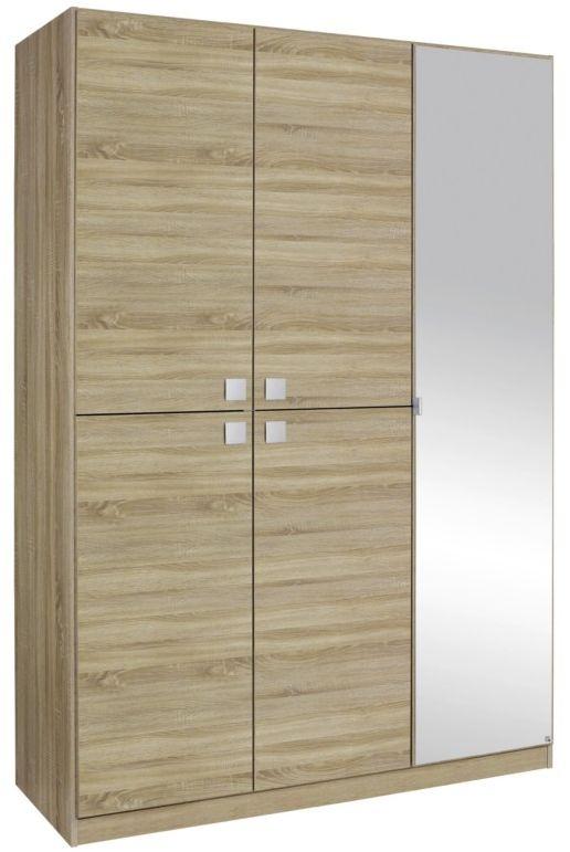 Rauch Caria Sonoma Oak 1+4 Door Wardrobe with 1 Mirror - W 136cm