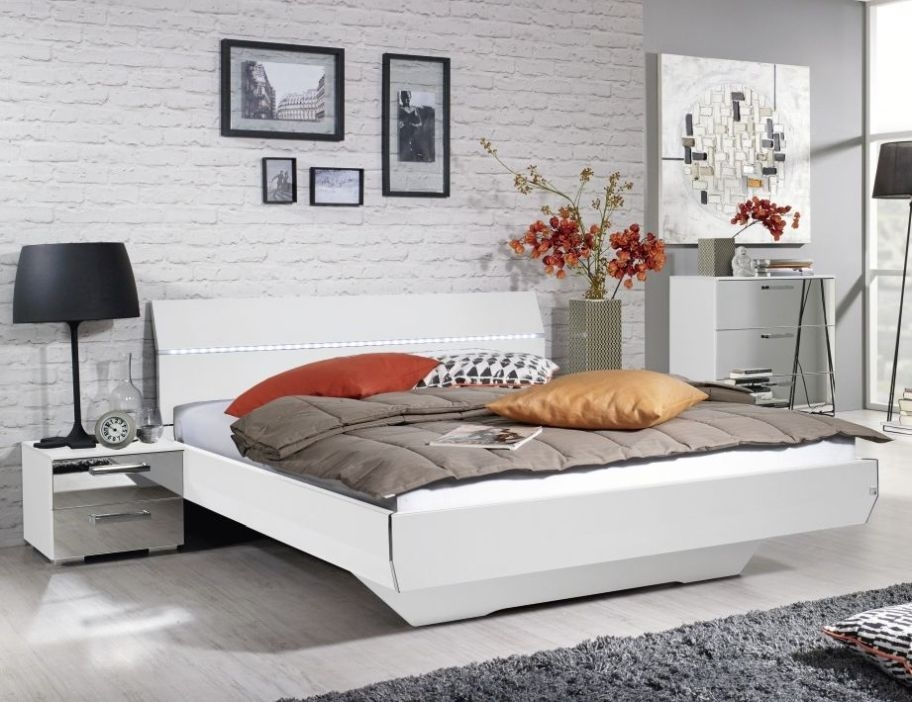 Rauch Cetina 4ft 6in Double Bed with LED Light in Alpine White - 140cm x 190cm