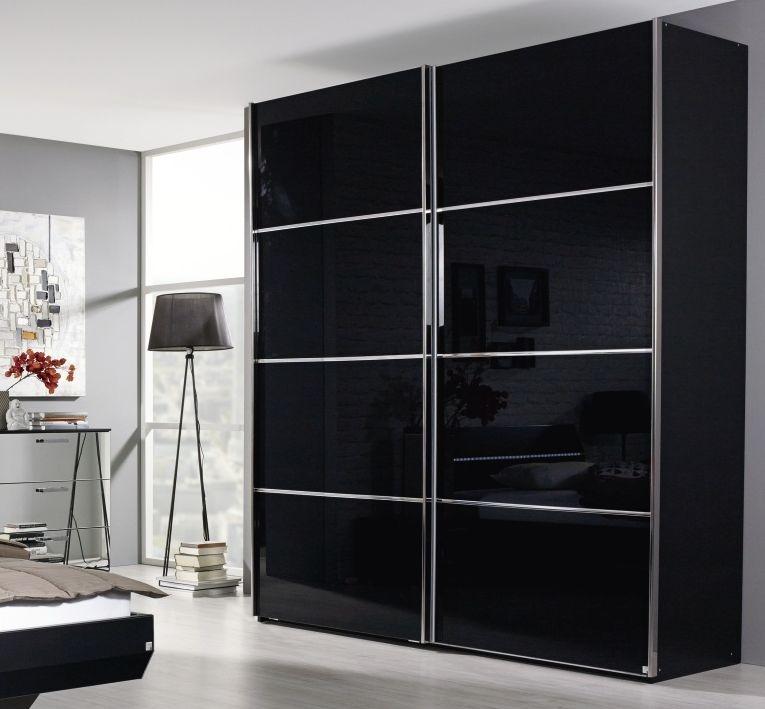 Buy Rauch Cetina 2 Glass Door Sliding Wardrobe With Trim In Black