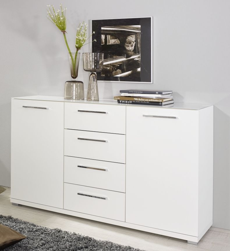 Rauch Chest Alpine White 1 Door 4 Drawer Cupboard