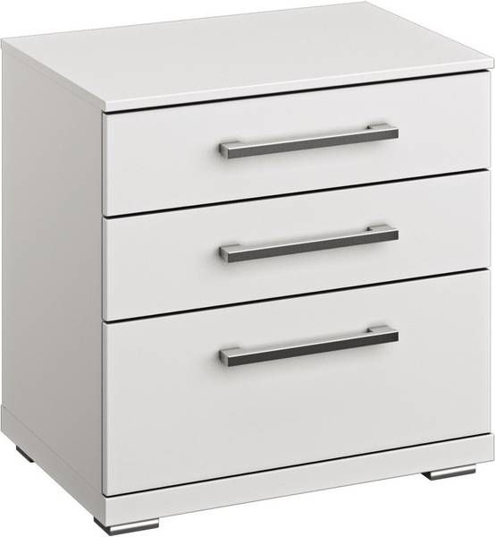 Rauch Chest Alpine White Comfort Height 2 Drawer Bedside Cabinet - W 60cm