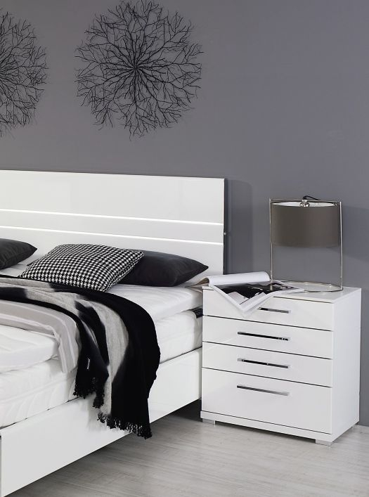 Rauch Chest 4 Drawer Bedside Cabinet in White - W 50cm