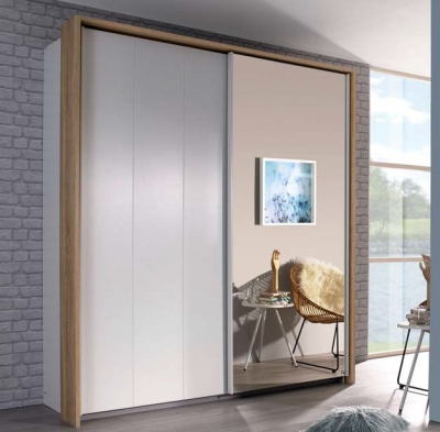 Rauch Chicago 2 Door Sliding Wardrobe in White - W 189cm