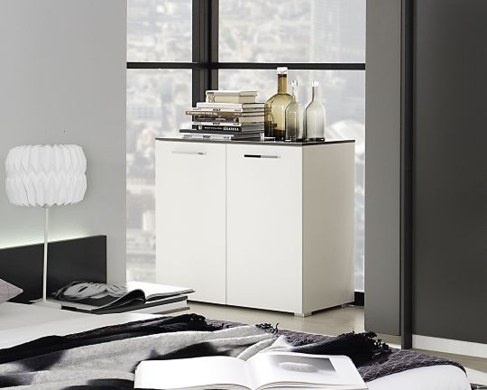 Rauch Colette Alpine White with Graphite Chest of Drawer - 2 Door