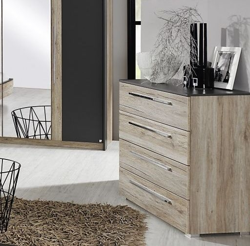 Rauch Colette 3+2 Drawer Chest in Oak and Graphite