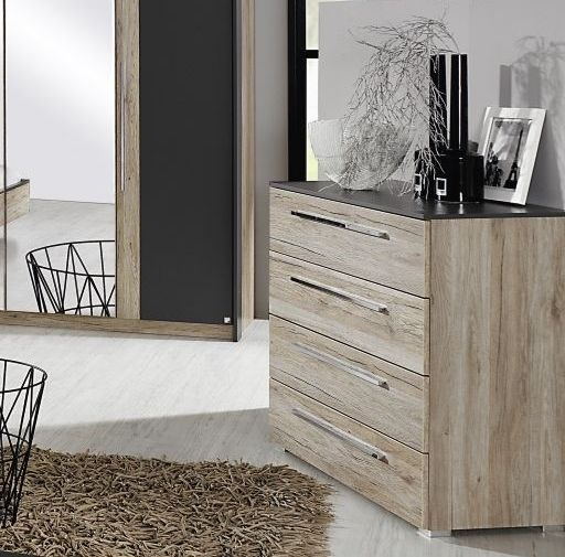 Rauch Colette 2 Door 4 Drawer Combi Chest in Oak and Graphite