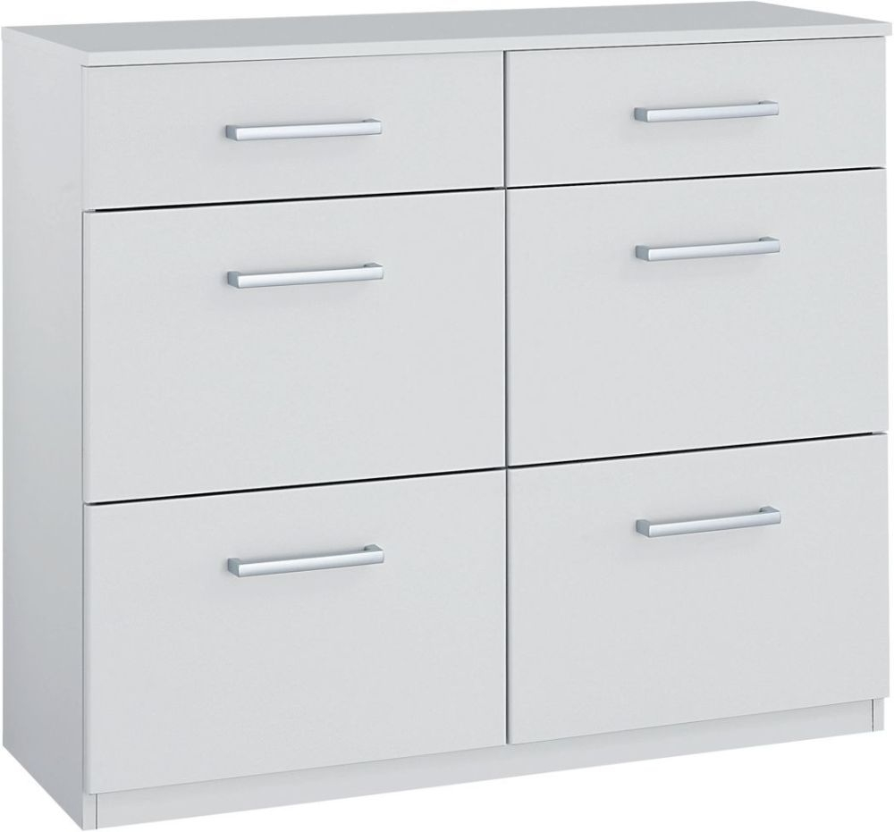 Rauch Cologne Alpine White Chest of Drawer - 4+2 Drawer