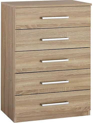 Rauch Cologne 1 Door 5 Drawer Combi Chest in Oak
