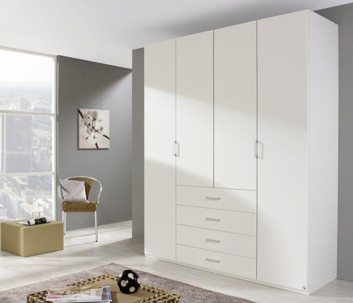 Rauch Elan A Alpine White 4 Door 4 Drawer Folding Wardrobe with Panorama Appearance - Starter Unit