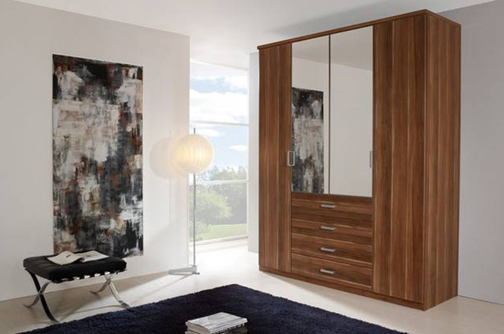 Rauch Elan A Folding Door Wardrobe - Mirrored Doors with Starter Units and Extension Units