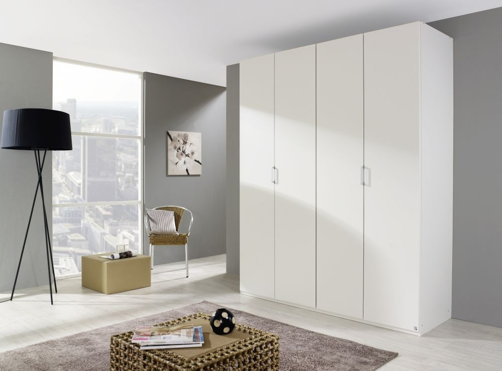 Rauch Elan A Wardrobe with Color Front and Aluminium Short Handle - Starter Unit and Extension Unit
