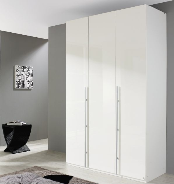 Rauch Elan B Alpine White 3 Door Hinged Wardrobe with Panorama Appearance - Starter Unit